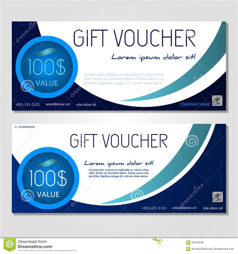 gift voucher vector illustration coupon template stock