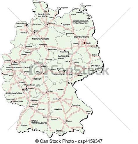 vektoren illustration von autobahn landkarte deutschland