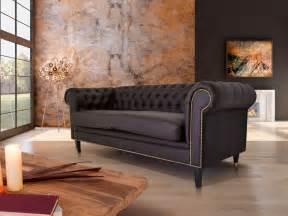 sofa kunstleder braun chesterfield 2 sitzer sofa santos kunstleder braun