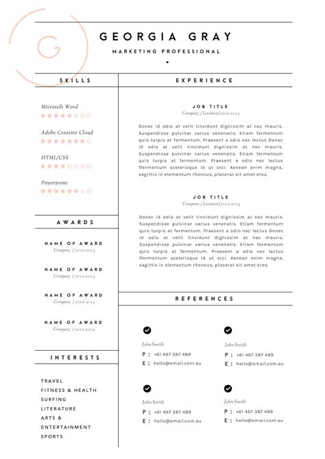 Exles Of Cv Layout by Resume Template 3 Page Cv Template By The Template Depot