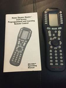 Home Theater Master Lcd Screen Universal Learning Remote
