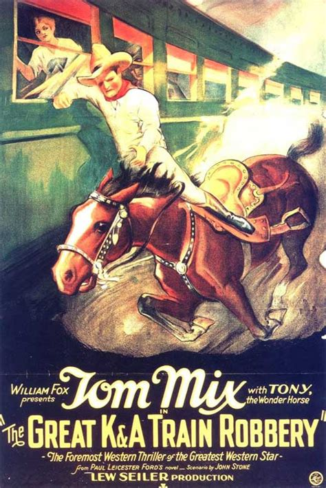 robbery train movie poster 1926 tom mix film western posters cowboy silent impawards famous lone ranger tren asalto al moviepostershop