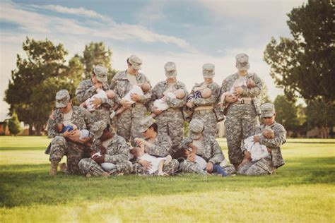 Photos Of Women Breastfeeding In Uniform Show 'power Of A