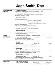 Exle How To Write A Resume by Excel Resume Template Template Design