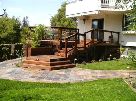 backyard wood deck deck designs and ideas for backyards and front yards landscaping network