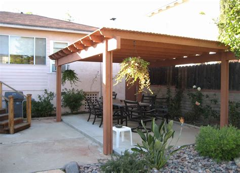 build  freestanding patio cover