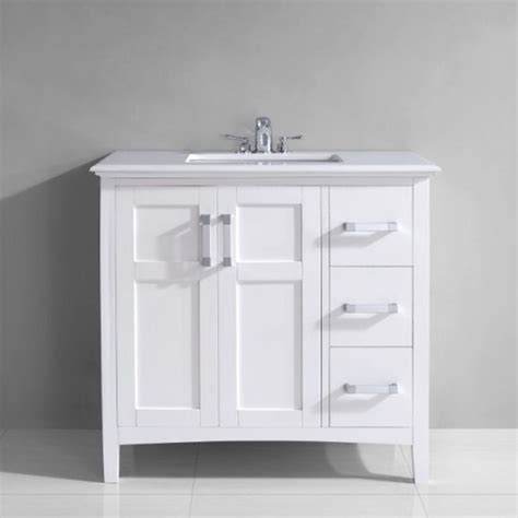 salem   white marble top single sink bathroom