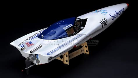 Rc Boat Steerable Outdrive by New Exceed Seahorse Electric Powered Fiberglass 920ep