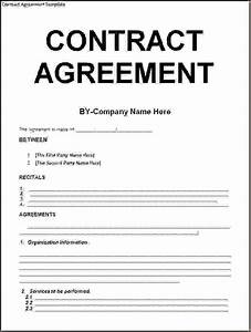 5 agreement contract templateReport Template Document