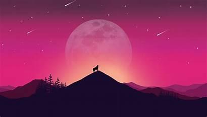 Landscape Illustration Wolf Background 4k Wallpapers Published