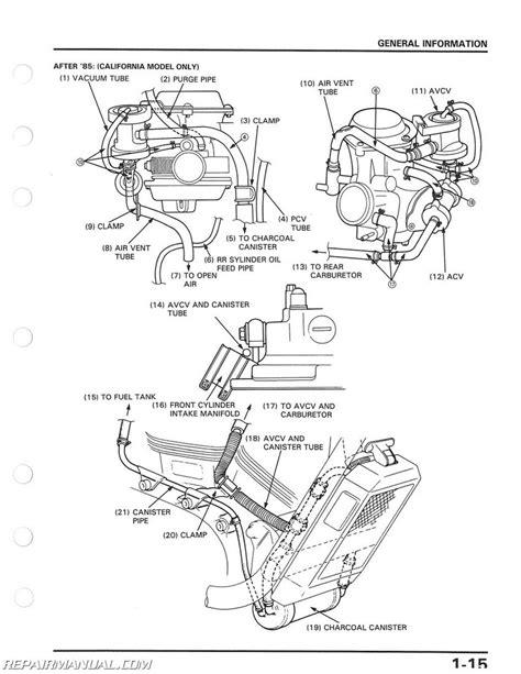 1986 Honda Vt1100 Wiring Diagram by 1985 1986 Honda Vt1100c Shadow Service Manual