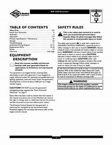 Briggs  U0026 Stratton 1773 0 User Manual 3 200 Watt Ac