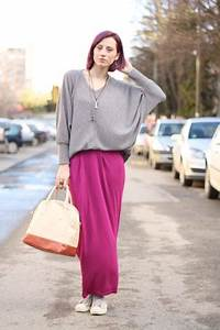 Magenta NowIStyle Skirts Heather Gray Converse Shoes | u0026quot;take the long way roundu0026quot; by ...