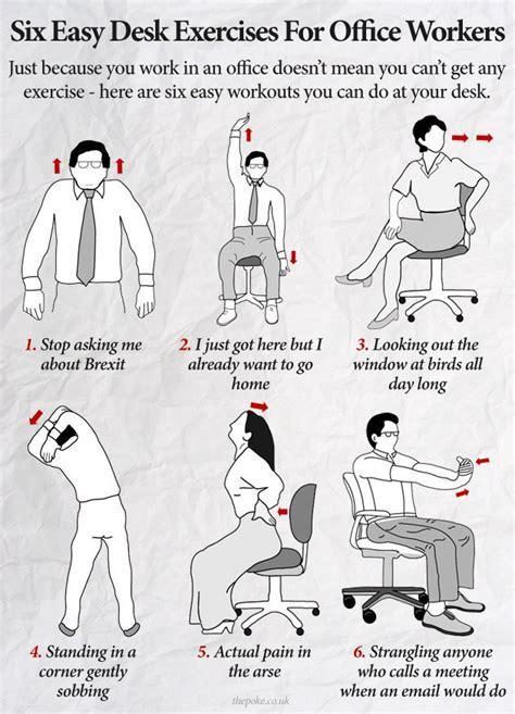 Office Desk Exercises by Exercises At Desk Hostgarcia