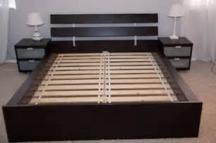200 new in box ikea queen size hopen bed frame for sale
