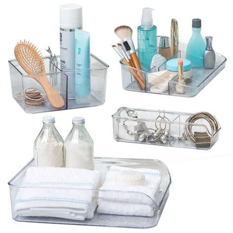 living set   vanity trays  bathroom storage