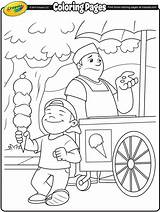 Ice Cream Coloring Pages Vendor Crayola Drawing Para Printable Sheets Spring Colouring Colorir Truck Desenhos Kleurplaten Balance Summer Excitement Drawings sketch template