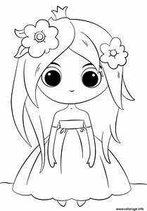 Coloriage Cute Princess Kawaii Dessin