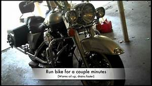 How to change the oil in a 2003 Harley Davidson Road King