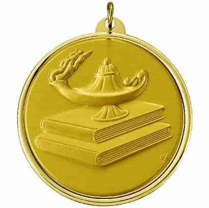 Learning Medallion Inch Frame Books Medal Insert
