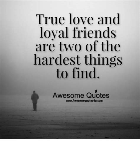 True Love And Loyal Friends Are Two Of The Hardest Things