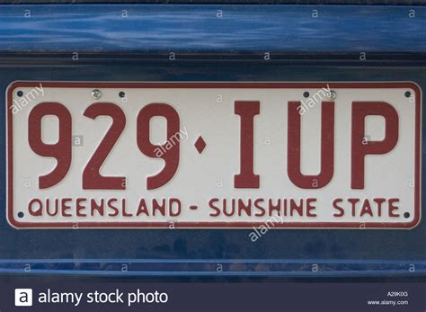 Australian Number Plate Stock Photos & Australian Number