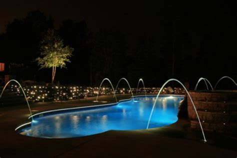 spa garden and swimming pool lighting