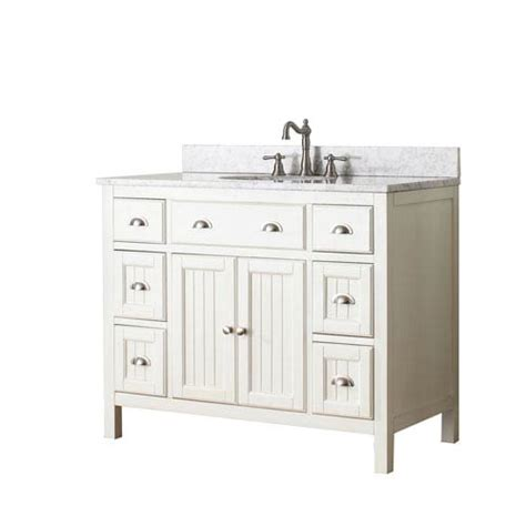 42 inch white vanity with marble top hamilton white 42 inch vanity combo with white