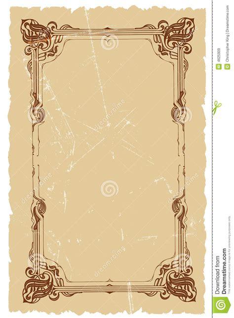 vintage decorative frame vector background design royalty
