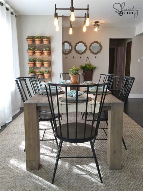 diy modern farmhouse table    hgtv open concept