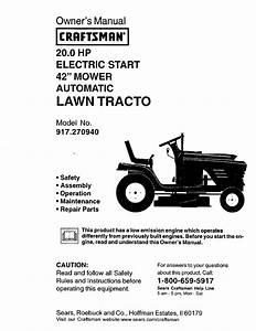 Craftsman 917 Owner U0026 39 S Manual