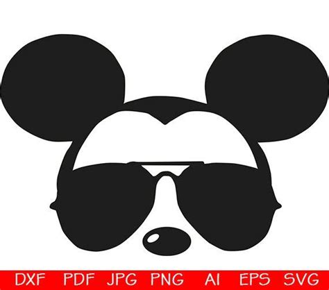 Mickey head with sunglasses svg david simchi levi. Mickey sunglasses svg / Mickey Head Face / Mickey Mouse ...