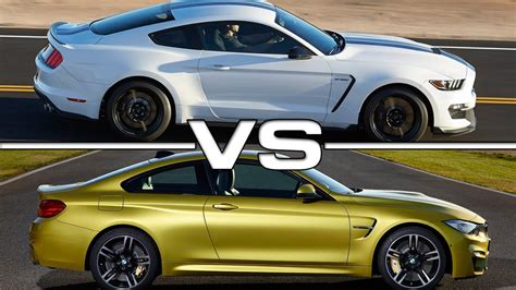 Gt500 Vs Gt350 by Ford Shelby Mustang Gt350 Vs Bmw M4