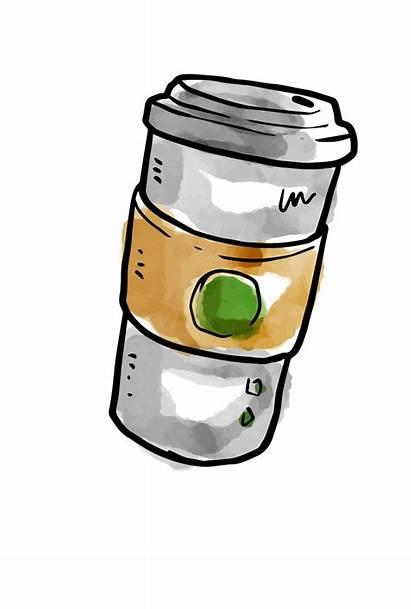 Coffee Milkshake Starbucks Watercolor Clipart Transparent Freepngimg