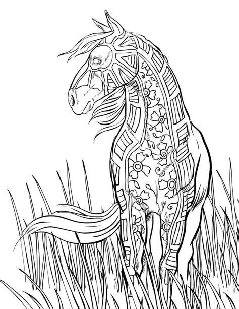pferde ausmalbilder fuer erwachsene kostenlos zum