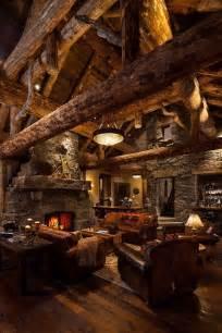 Log Homes Interior West Inspired Luxury Rustic Log Cabin In Big Sky Montana Idesignarch Interior Design