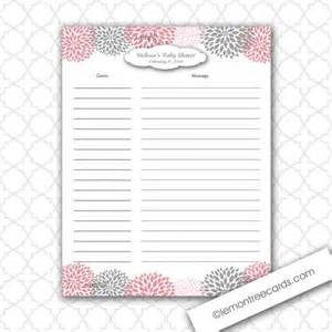 personalized wedding scrapbook items similar to dahlia baby or bridal shower guest sign