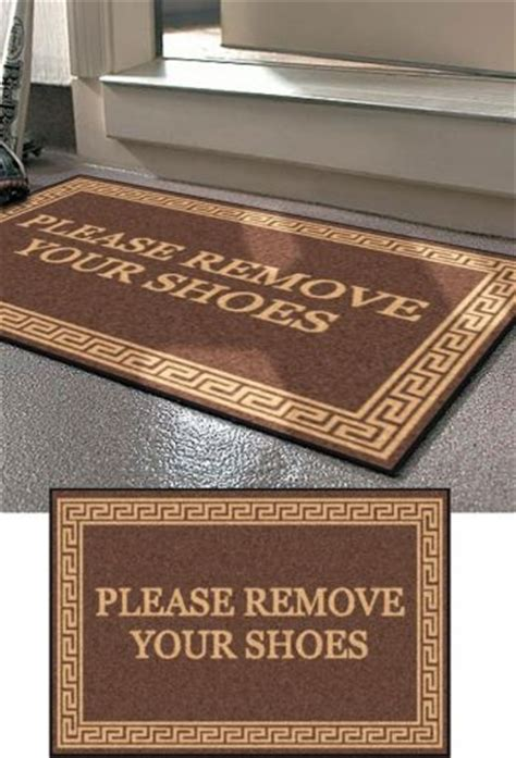 Remove Shoes Doormat by 25 Best Ideas About Remove Shoes Sign On