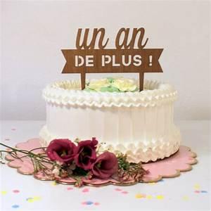 Image De Gateau D Anniversaire : cake topper anniversaire en bois modern confetti ~ Melissatoandfro.com Idées de Décoration
