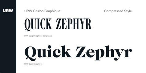 URW Caslon Graphique Font   Fontspring