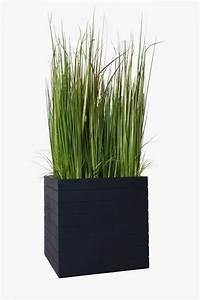 Gehwegplatte 50 X 50 : pflanzk bel fiberglas mit rillen block 50x50x50 cm anthrazit ~ Frokenaadalensverden.com Haus und Dekorationen