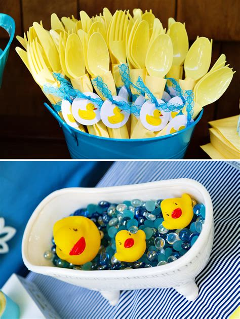 crafty charming rubber ducky baby shower hostess