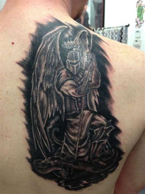 mid evil angel knight tattoo