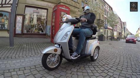 motorroller mit 3 rädern motors bendi elektro dreirad roller seniorenmobil