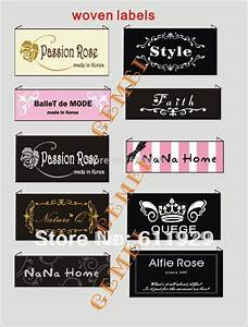 buy custom logo brand woven clothing labels tags clothes With embroidered name labels for clothes