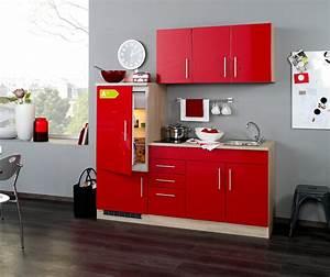 Miniküche Mit Kühlschrank Und Herd : singlek che berlin glaskeramik kochfeld und k hlschrank breite 180 cm hochglanz rot ~ Indierocktalk.com Haus und Dekorationen