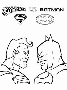 printable superman vs batman coloring pages for kids free ...