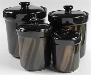 black kitchen canister sango avanti black 4 canister set 8250597 ebay