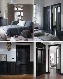 peindre ses portes en noir et gris deco pinterest en With repeindre un escalier en blanc 7 peindre votre escalier comment faire youtube