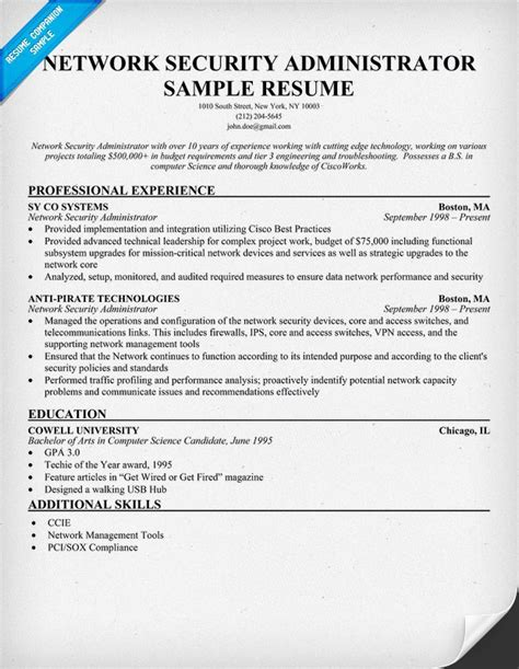 network administrator resume india ghostwritingrates web